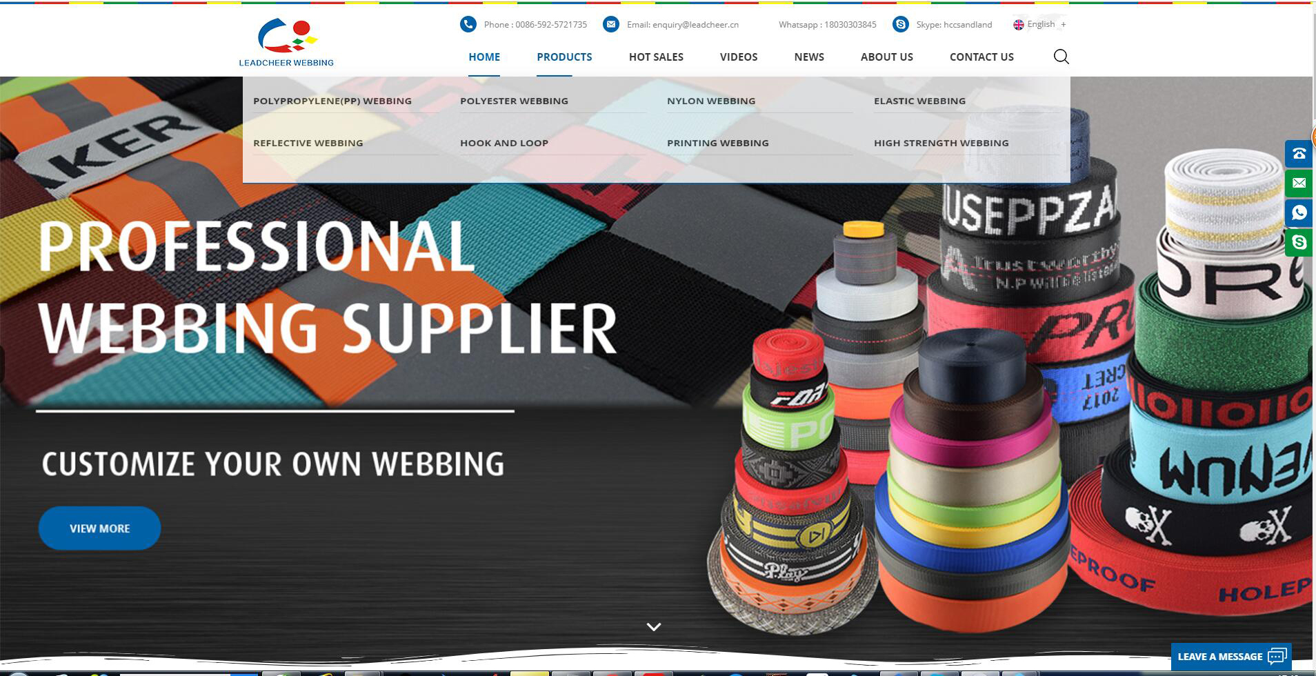 professional webbing supplier